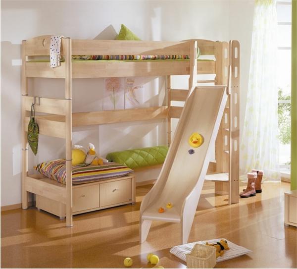 Hochbett Mit Rutsche Spa Im Kinderzimmer