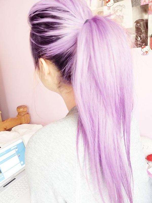 Lila Haare Eine Besonders Interessante Idee
