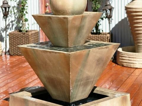gartenbrunnen modernes design erstaunliche bilder von gartenbrunnen zum inspirieren