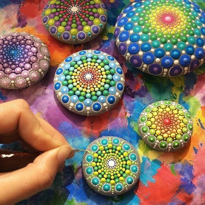 Steine Malen Steine Bemalen 50 Ideen Malvorlagen Einfache Motive
