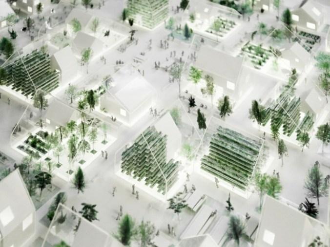 Vertikale Farmen in Gewächshäuser