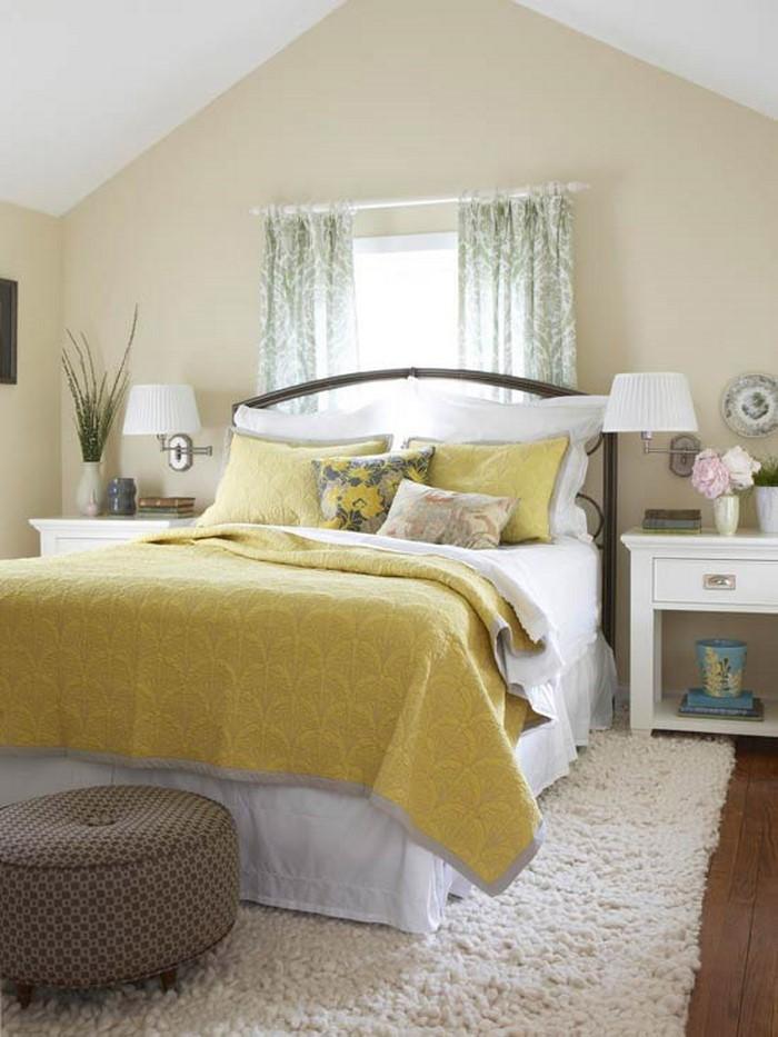 Kleines Schlafzimmer Farblich Gestalten   Wohnungsideen ...