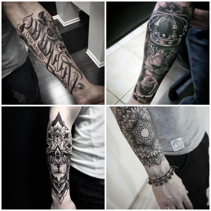 Tattoo Arm Frau Schrift Tattoo Wolf 60 Inspirierende Ideen Fur