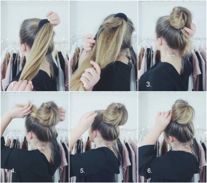 Eight steps to create a pretty messy bun, beautiful hairstyles for long hair