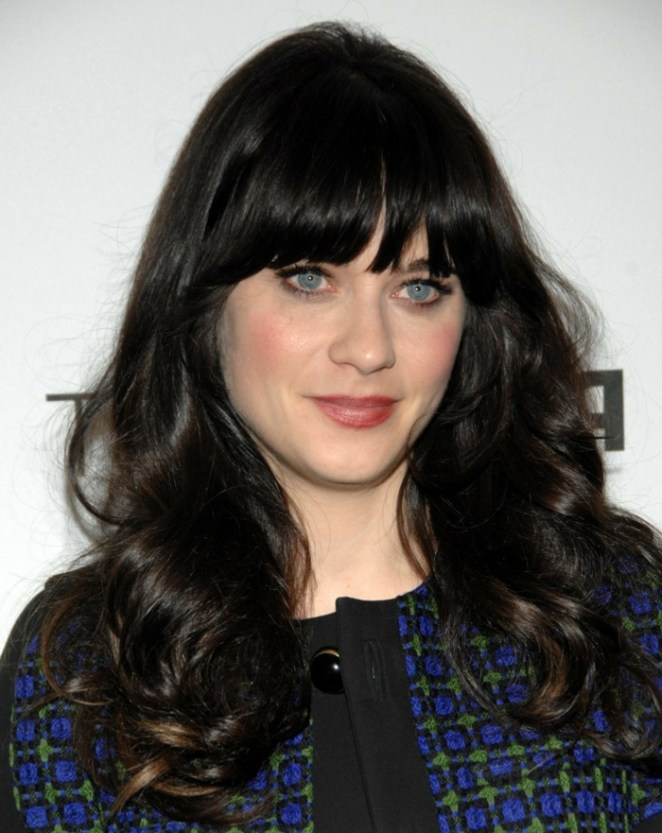 black hair, blue eyes, red lipstick, a celebrity, simple hairstyles