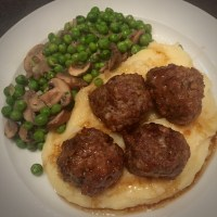 Oven Baked Meatballs with Brown Ale Gravy by Tom Kerridge