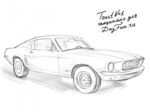 How to draw Ford Mustang step by step | ARCMELCOM