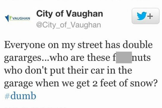 City of Vaughan tweet