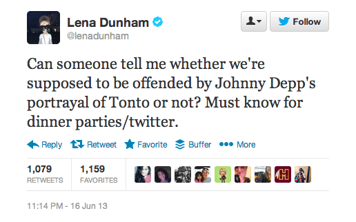 Twitter  lenadunham  Can someone tell me whether ...
