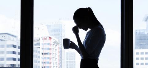 Woman enduring stress