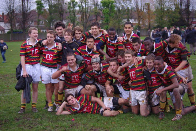 Our multicultural rugby team, I'm the second from the right (top row)