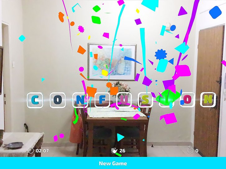 Words confusion in Catchy Words iOS AR game