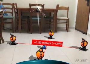 1.5 meters gameplay area, Meddling Martians AR
