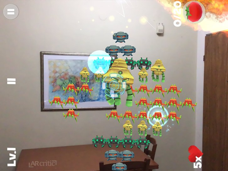 Alien Invaders AR game screenshot