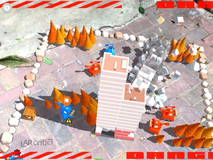 Smash Tanks iOS AR game screenshot