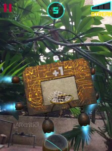 Futuristic basketboard in AR Dunk iOS game