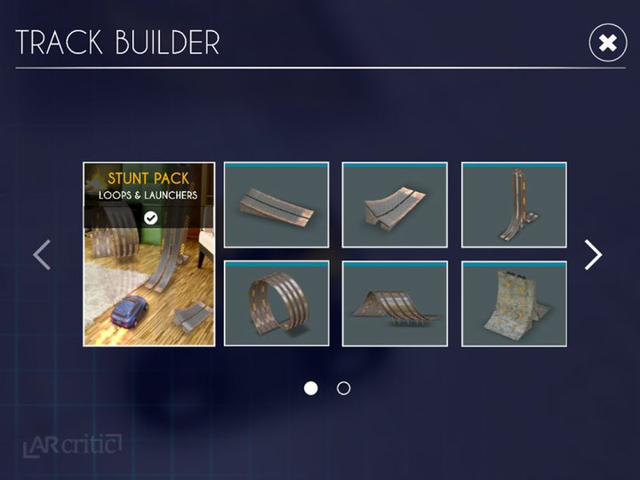 Track builder in RC Club iOS game