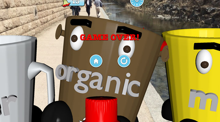 Bicycle bin in augmented reality
