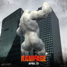 Rampage's George the gorilla climbing on a building