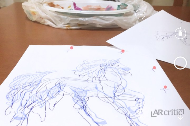 Sketching a horse in augmented reality
