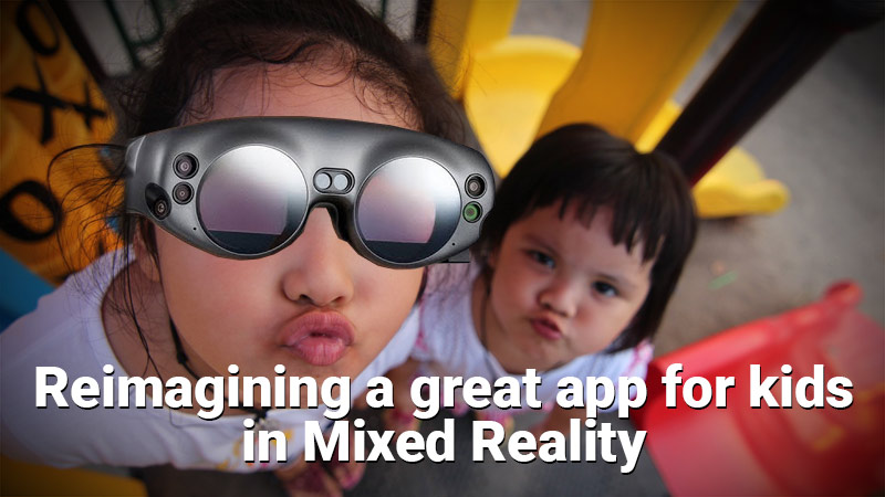Mixed reality app for kids