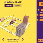 Room Racer AR track selection screen
