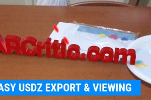 Export 3D content to USDZ file and View it using AR Quick Look