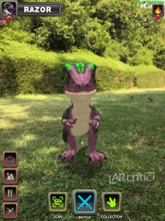 Dinosaur in augmented reality