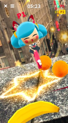 Female character from Flippy Friends AR Multiplayer
