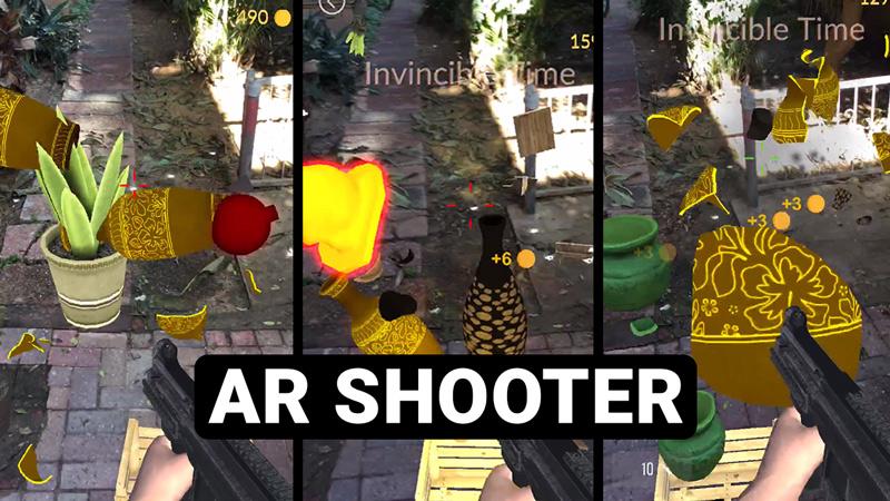 Fruit Ninja like AR Arcade Shooting Game for iOS