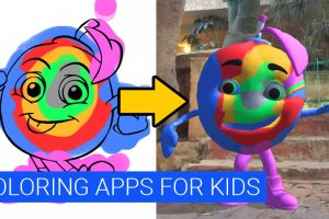 iPad and iPhone Coloring Book Apps for Kids in Augmented Reality