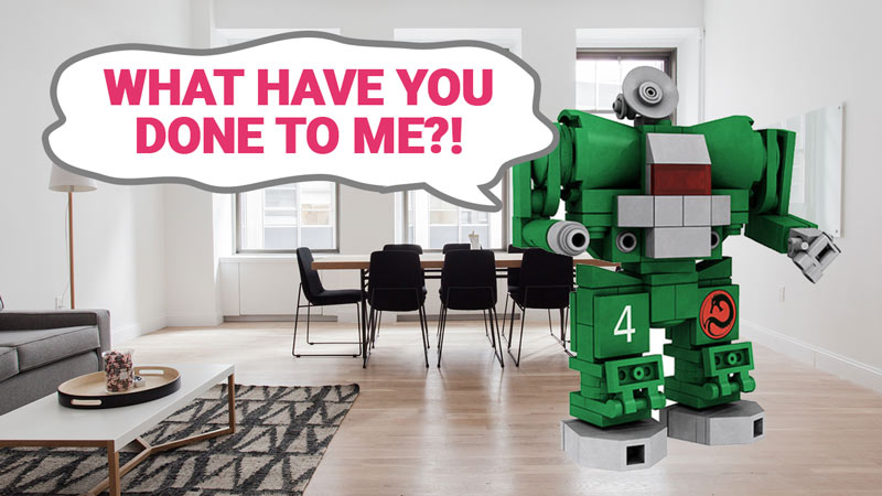 Robot in a room