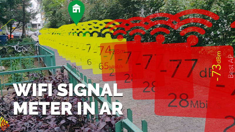 WiFi signal strength app in augmented reality