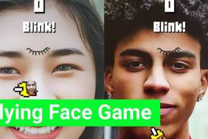 Flying Face Mask Instagram Game is Amazing