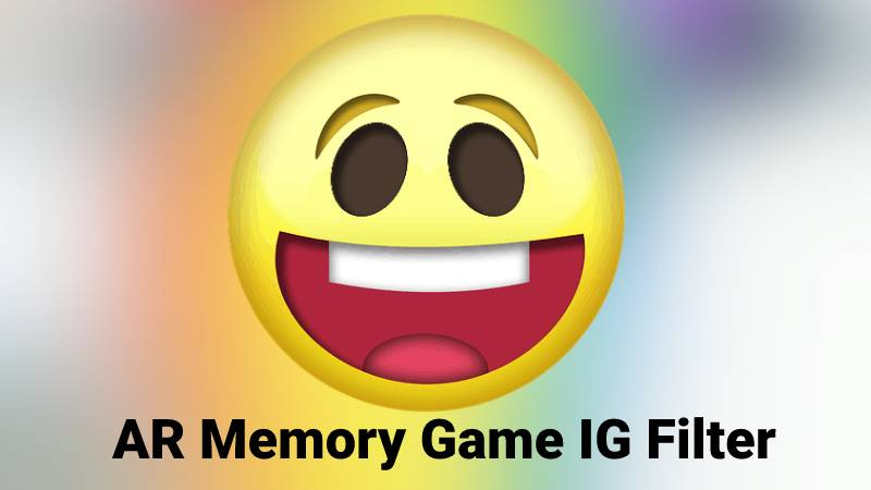 AR memory game IG filter