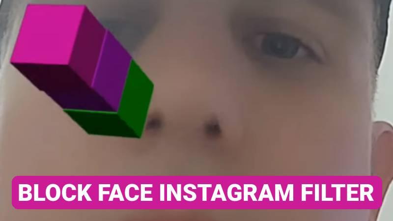 Block face Instagram filter