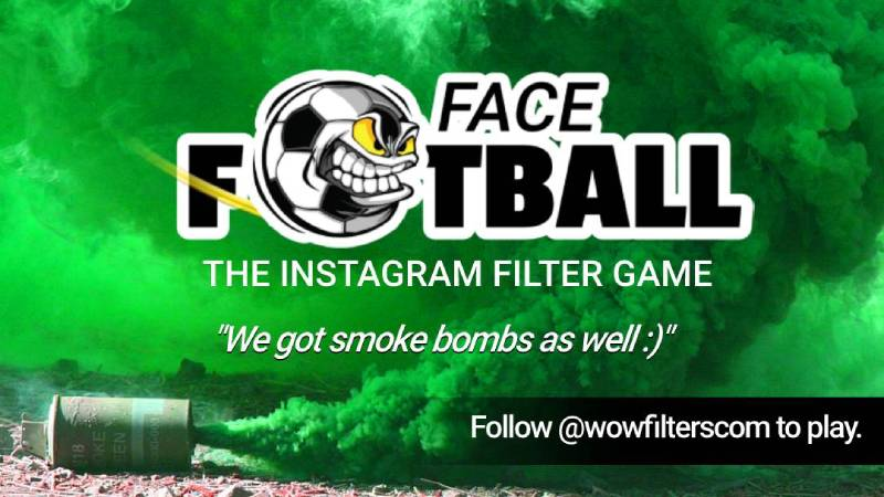 Face Football, Instagram filter game
