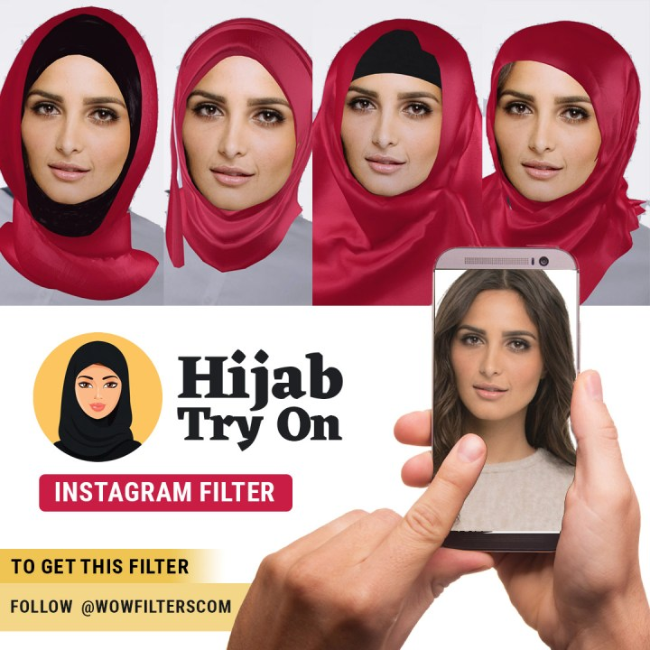 Hijab Try On Instagram filter