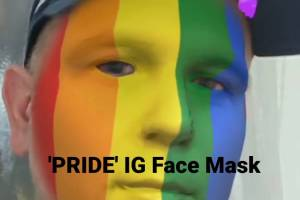 PRIDE – LGBTQ Rainbow Flag Instagram face mask