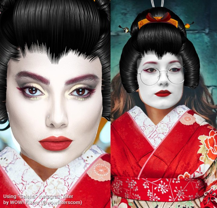 Geisha Instagram camera effect