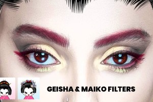 Traditional Geisha & Maiko Instagram Face Masks