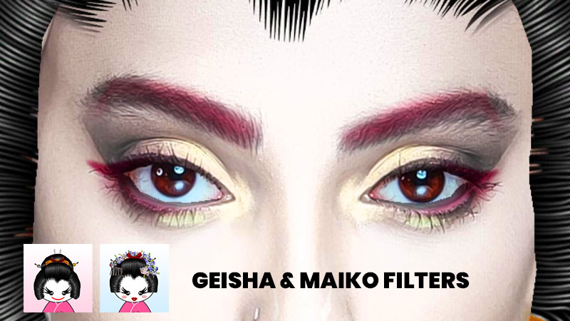Geisha and Maiko Instagram face masks