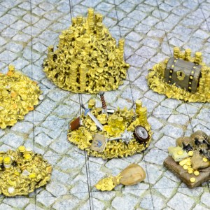 Gold Rush Treasure Tokens 13 Piece Set – 28mm Unpainted