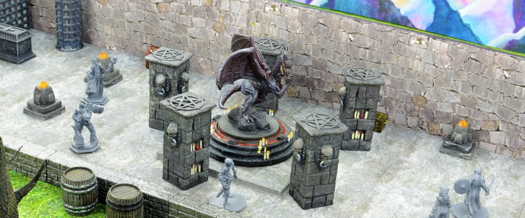 Dungeon Path Tiles with Miniatures