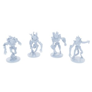 Elemental Demon's 4 Piece Set (Earth, Wind, Flame, Frost)
