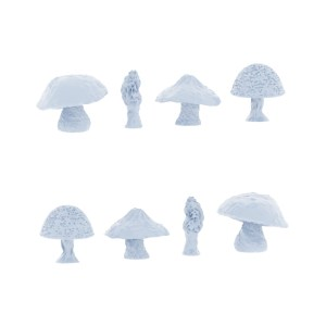 8 Miniature Mushrooms Prop Model Set 28mm, Diorama, Crafts