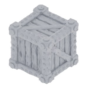 Rough Wood Crate Miniature 28mm
