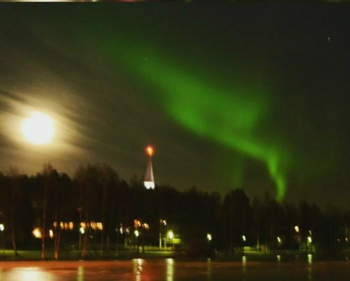 soirée aurore boréale à Rovaniemi