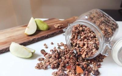 Homemade wild blueberry granola (vegan, gluten-free)