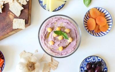 New hummus flavor ideas: Purple wild blueberry hummus